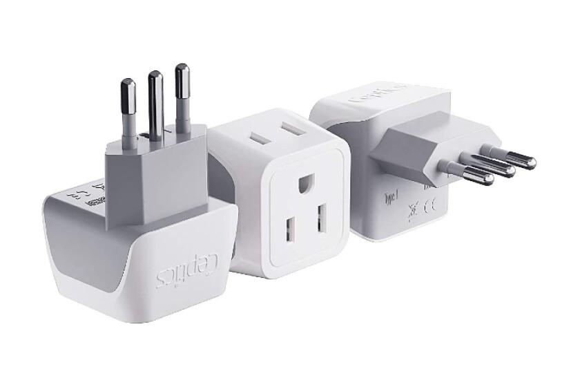 best Ceptics Italy, Chile Travel Adapter plug