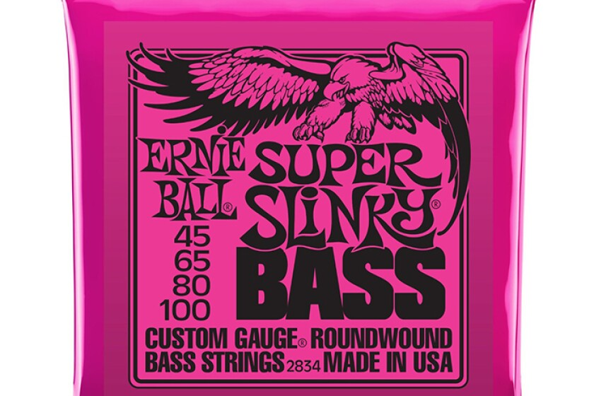Ernie Ball Super Slinky Nickel Round Wound Electric Bass Guitar Strings Set