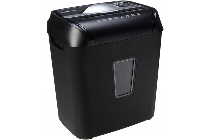 AmazonBasics 12-Sheet Cross-Cut Paper/CD/Credit Card Shredder