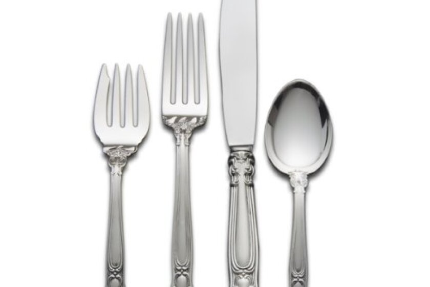 Gorham Chantilly 4-Piece Sterling Silver Flatware Place Set
