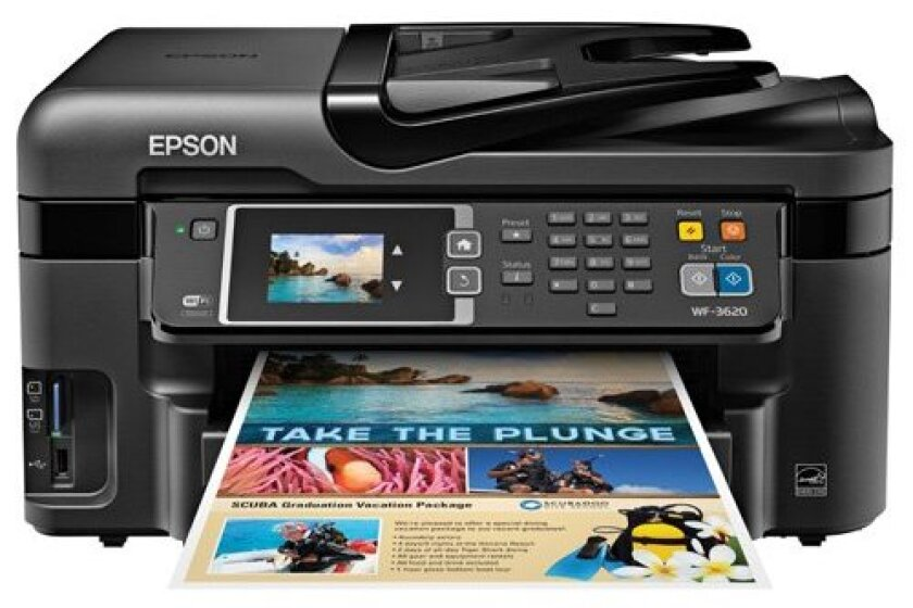 Epson WorkForce WF-3620 Wireless and WiFi Direct All-in-One Color Inkjet Printer
