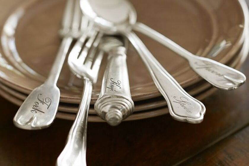 Potterybarn Antique Silver Flatware