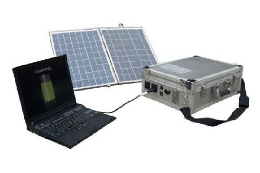 Wagan 2548 E Power Case 450 Solar Power Panel Array With Inverter