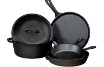 Lodge 5 Piece Cast Iron Pre Seasoned Set