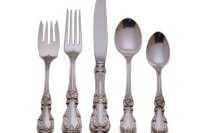 Reed & Barton Burgundy 5-Piece Silverware Set