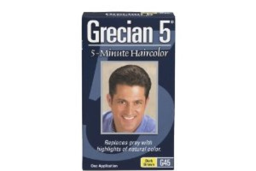 希腊5 5分钟发色,深棕色或中棕色