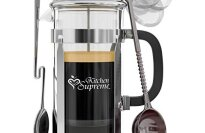 Best Coffee Press Pot with Stainless Steel & Heat Resistant Glass