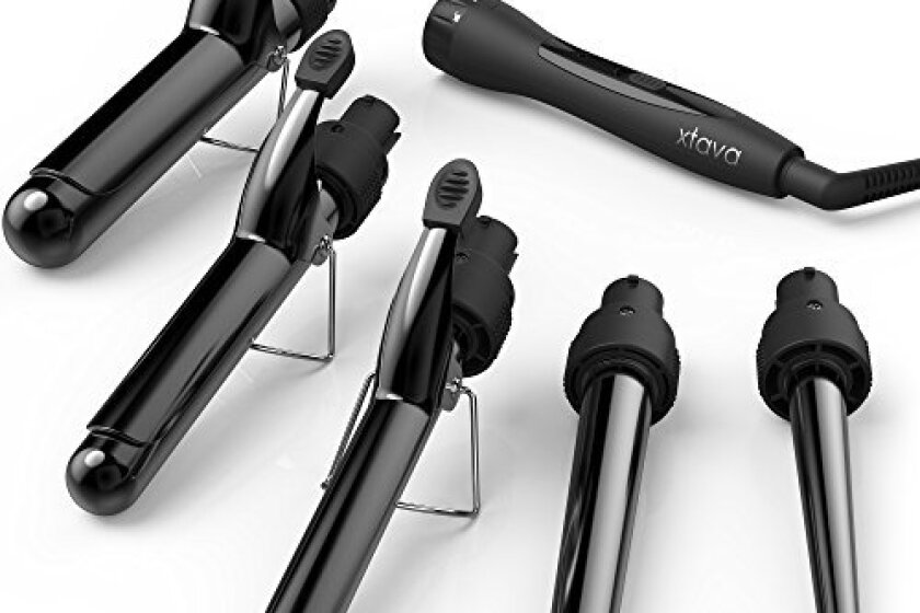 Xtava Satin Wave 5-in-1 Professional Curling Iron Set