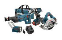 Bosch CLPK402-181 18-Volt 4-Tool Lithium-Ion Cordless Combo Kit