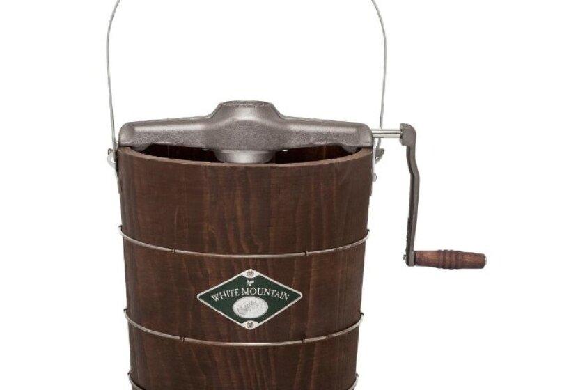 White Mountain Appalachian Series Wooden Bucket Hand Cranked Ice Cream Maker