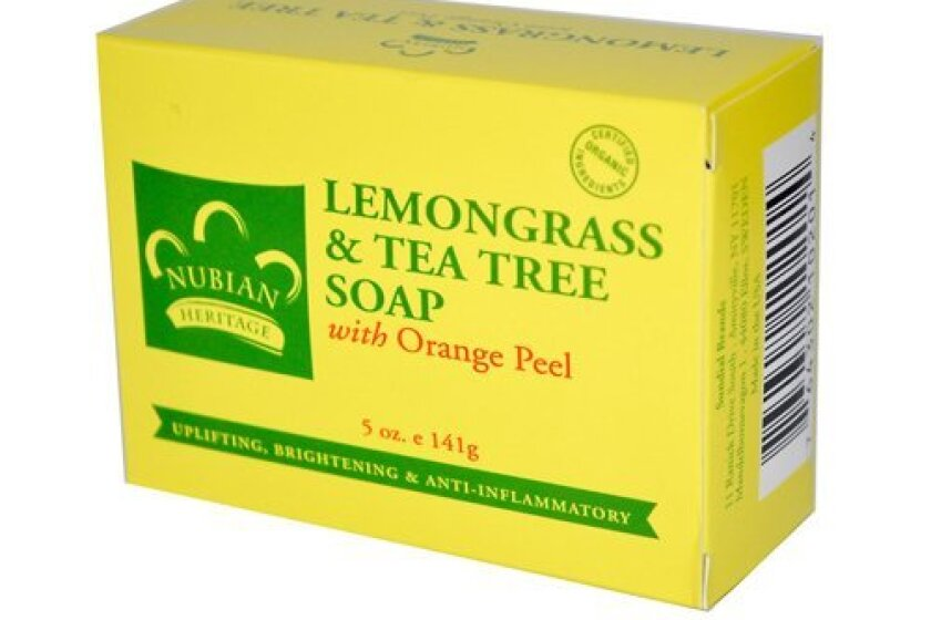 Nubian Heritage Soap Bar, Lemongrass and Tea Tree