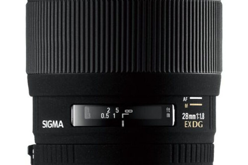 Sigma 28mm f/1.8 EX DG Aspherical Macro Large Aperture Wide Angle Lens for Nikon SLR Cameras