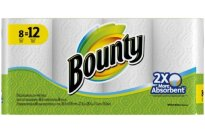 Bounty White Paper Towels Giant Rolls - 8 CT