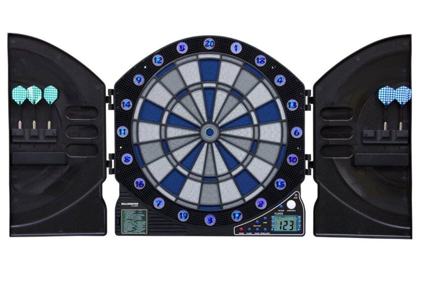 Bullshooter by Arachnid Illuminator 3.0 Light Up Dartboard Cabinet Set